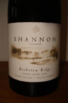 Shannon Vineyards Rockview Ridge Pinot Noir 2009