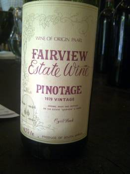 Fairview Pinotage 1979