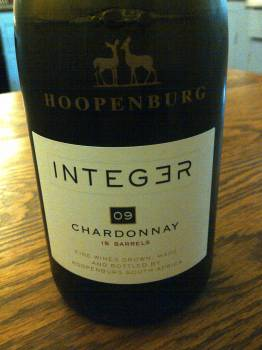 Hoopenburg Integer Chardonnay 2009