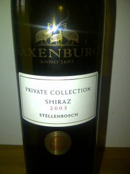 Saxenburg Private Collection Shiraz 2003