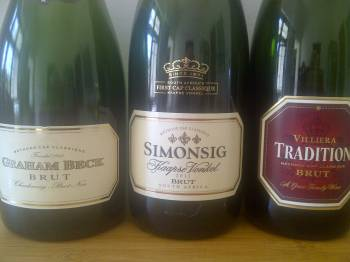 Graham Beck Brut vs. Simonsig Kaapse Vonkel 2011 vs. Villiera Tradition Brut