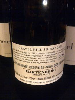 Hartenberg Gravel Hill Shiraz 2007