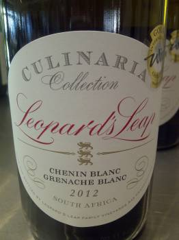Leopard's Leap Culinaria Collection Chenin Blanc Grenache Blanc 2012