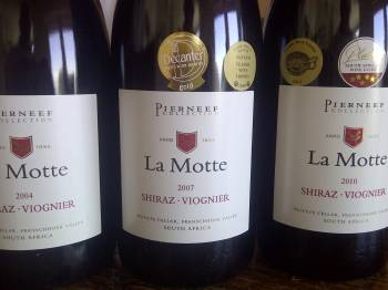 La Motte Pierneef Collection Shiraz Viognier 2004 vs. 2007 vs. 2010