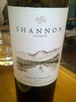Shannon Vineyards Mount Bullet 2011