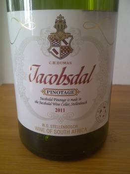 Jacobsdal Pinotage 2011