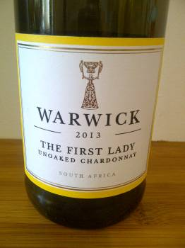 Warwick The First Lady Unoaked Chardonnay 2013