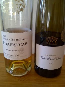 Fleur du Cap Noble Late Harvest 2012 vs KWV The Mentors Noble Late Harvest 2012