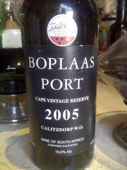 Boplaas Cape Vintage Reserve Port 2005