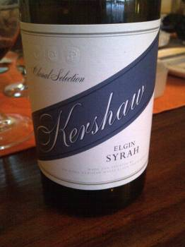 Kershaw Clonal Selection Elgin Syrah 2012