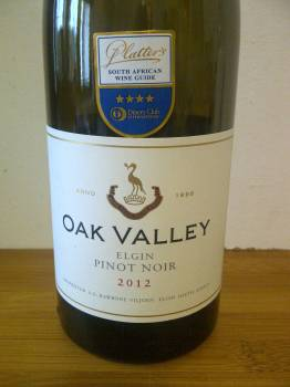 Oak Valley Pinot Noir 2012