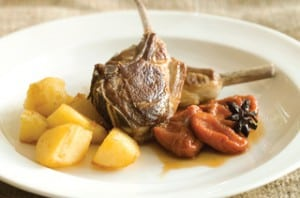 Recipe: Lamb Chops with Nectarines in Spiced Rooibos Syrup
