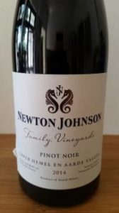 Newton Johnson Family Vineyards Pinot Noir 2014