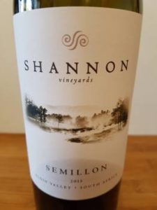 Shannon Vineyards Semillon 2015