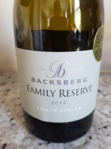 Backsberg Family Reserve White 2015