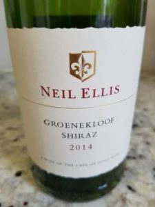 Neil Ellis Groenekloof Shiraz 2014