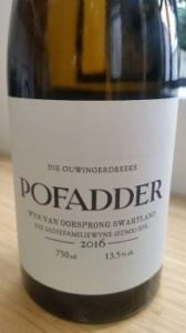 The Old Vine Series Pofadder 2016
