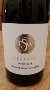 Trizanne Signature Wines Syrah Reserve 2016