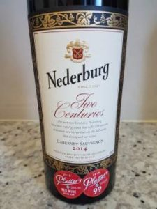 Nederburg Two Centuries Cabernet Sauvignon 2014