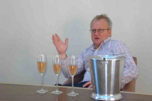 Graham Beck cellarmaster (and Klein Optenhorst winemaker) Pieter Ferreira
