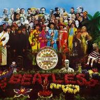 The iconic Sgt. Pepper's Lonely Hearts Club Band album cover.