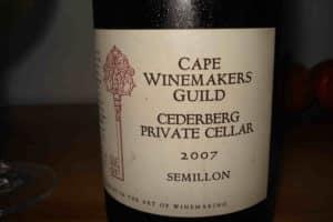 Cederberg Private Cellar CWG Semillon 2007