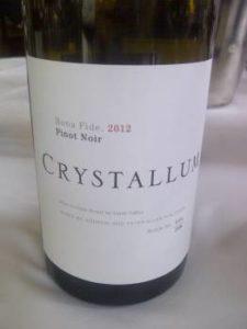 Crystallum Bona Fide Pinot Noir 2012