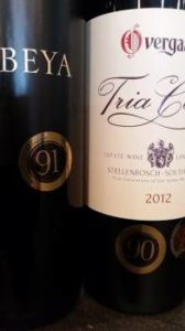 Bottles bearing #WinemagRating stickers.