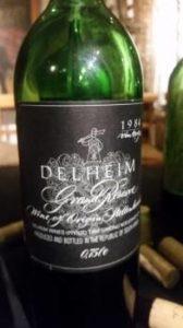 Delheim Grand Reserve 1984