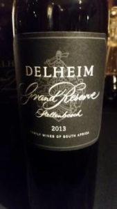 Delheim Grand Reserve 2013