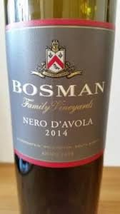 Bosman Family Vineyards Nero dAvola 2014