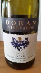 Doran Vineyards Arya 2015
