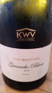 KWV The Mentors Grenache Blanc 2014