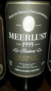 Meerlust Rubicon 1995