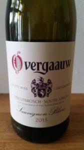Overgaauw Sauvignon Blanc 2015