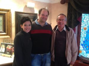 Rikus Neethling (centre) with Chantel Dartnall and Germain Lehodey of Restaurant Mosaic.