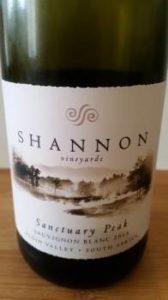 Shannon Sanctuary Peak Sauvignon Blanc 2015, Shannon Sanctuary Peak Sauvignon Blanc 2015
