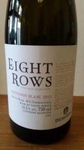 Diemersdal Eight Rows Sauvignon Blanc 2015, Diemersdal Eight Rows Sauvignon Blanc 2015