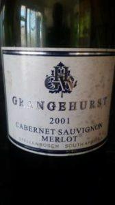 Grangehurst Cabernet Sauvignon Merlot 2001