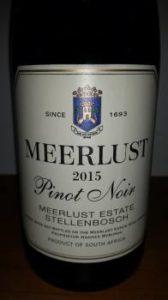 Meerlust Pinot Noir 2015