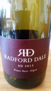 Radford Dale AD Pinot Noir 2013