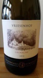 Vriesenhof Grenache 2014