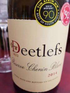 Deetlefs Reserve Chenin Blanc 2014