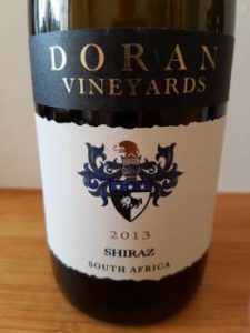 Doran Vineyards Shiraz 2013