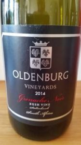 Oldenburg Bush Vine Grenache Noir 2014