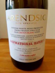 Arendsig Inspirational Batch 3 Chenin Blanc 2015