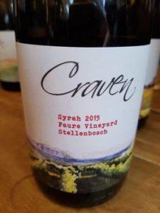 Craven Faure Vineyard Syrah 2015
