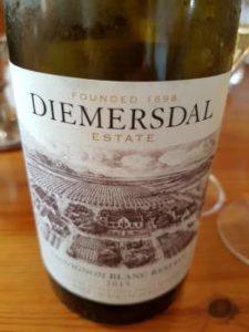Diemersdal Reserve Sauvignon Blanc 2015