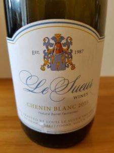 Le Sueuer Wines Chenin Blanc 2015