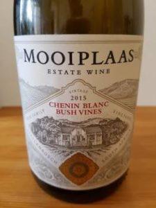 Mooiplaas Bush Vines Chenin Blanc 2015